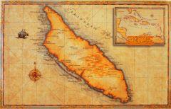 Oude zeekaart - klein