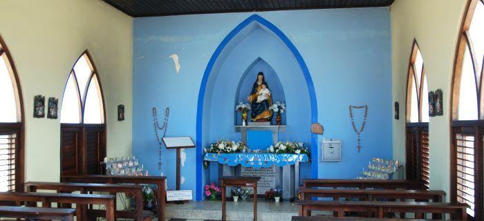 Binnenkant van de Alto Vista Chapel
