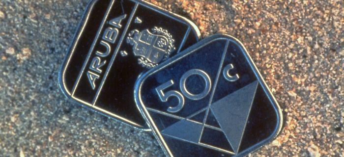 Aruba Valuta Arubaanse Florin S Bekenste Munstuk 50 Cent