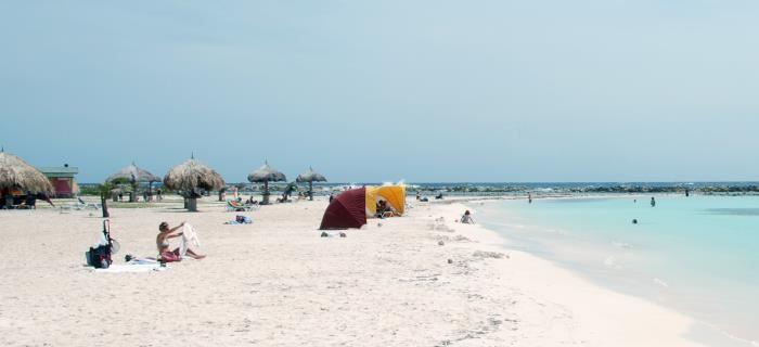 Baby Beach, een lievelingsstrand van vele, ligt ten oosten van Aruba