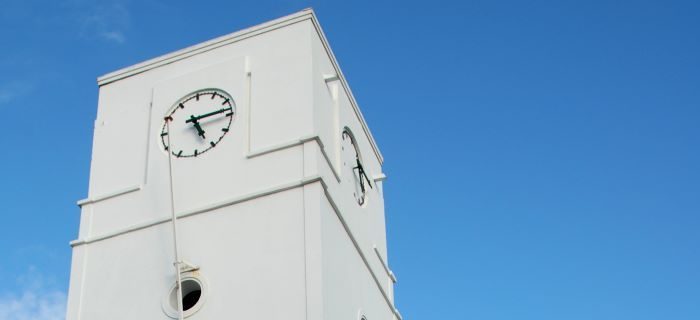 The Clock at  Willem III Tower