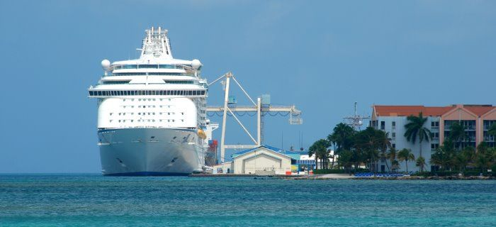 Cruise Ship in Oranjestad, Aruba