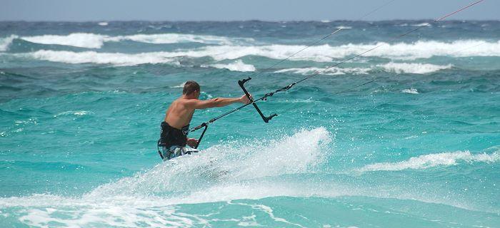 Goed weer om te kitesurfen op Aruba