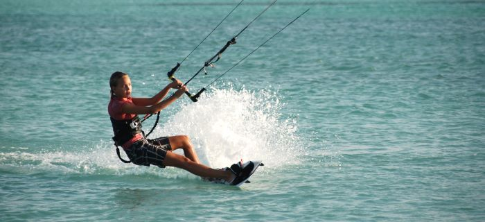 Kitesurf strand