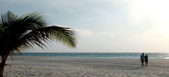Romantisch strand Manchebo Beach