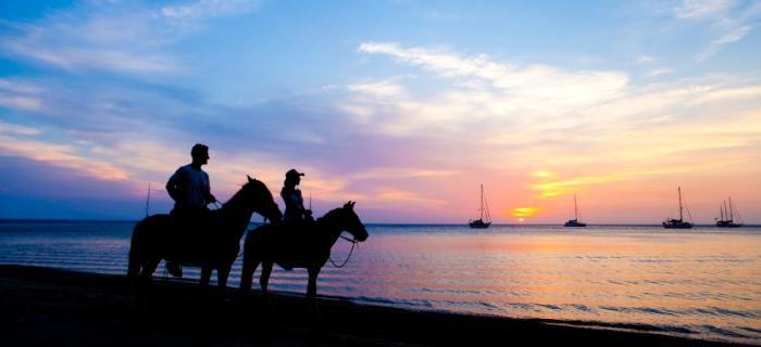 Paardrijden en een privetocht maken