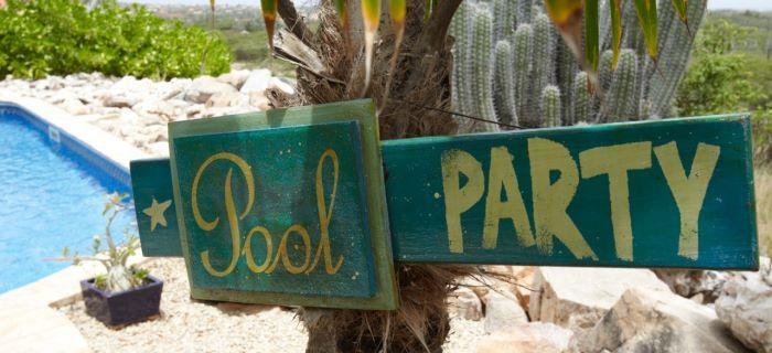 Pool Party bij een Vakantiehuis